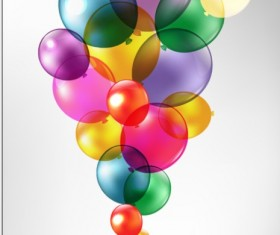 Colorful Balloon mix design vector 03