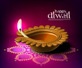 India Diwali elements backgrounds vector 04