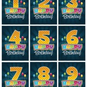Link toHappy birthday number card vector