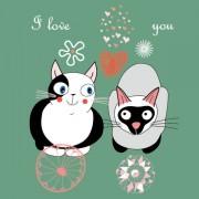 Link toFunny cartoon cat design elements vector 03