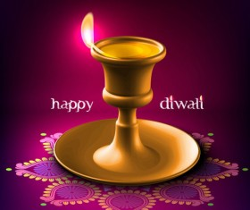 India Diwali elements backgrounds vector 05