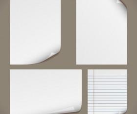 Set of Blank paper design vector material 07