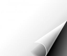 Set of Blank paper design vector material 08