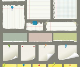 Set of Blank paper design vector material 09