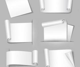 Set of Blank paper design vector material 14