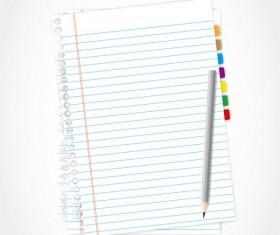 Set of Blank paper design vector material 15