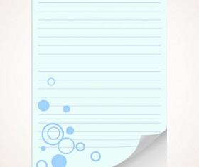 Set of Blank paper design vector material 16