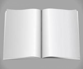 Set of Blank paper design vector material 18
