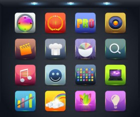 Creative Mobile application icon set 02