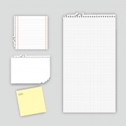 Link toSet of blank paper design vector material 24