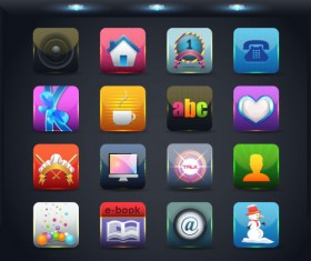 Creative Mobile application icon set 03
