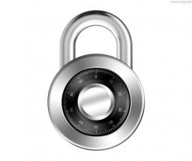 Password lock psd template