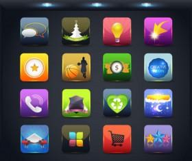 Creative Mobile application icon set 04