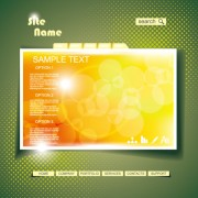 Link toYellow style website theme template vector 03