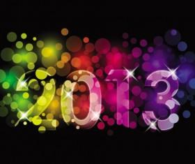 2013 year Font Design elements vector 01