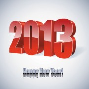 Link to2013 year font design elements vector 03