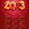 Elements 2013 Calendar design vector graphics 02