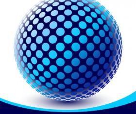 3D ball vector background set 01