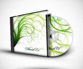 Abstract of CD Cover vector set 05