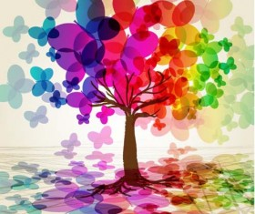 Different colors of rainbow backgrounds vector 01