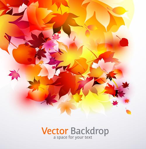 Autumn theme backgrounds art vector 05