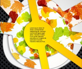 Set of Autumn multi layered background vector 03