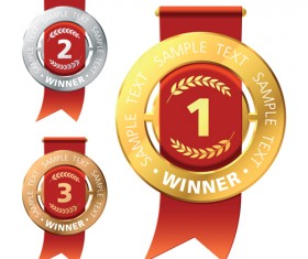 Different Award design elements vector 02