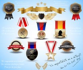 Different Award design elements vector 05