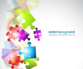 Backgrounds with 3D shapes vector graphic 03