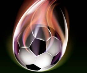 Abstract of Ball with flame design vector 03