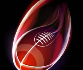 Abstract of Ball with flame design vector 04