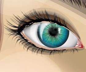 Beautiful Eyes Vector graphic 04