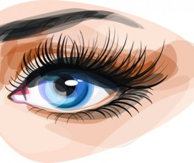 Beautiful Eyes Vector graphic 05