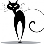 Link toFunny black cat design vector 03