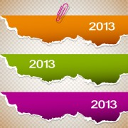 Set of bookmarks design elements vector graphic 02