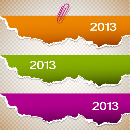 Set of Bookmarks design elements vector graphic 02 - Vector Banner ...