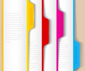 Set of Bookmarks design elements vector graphic 03