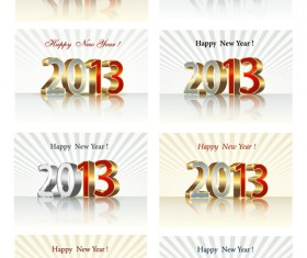 Bright 2013 New Year design vector material 01