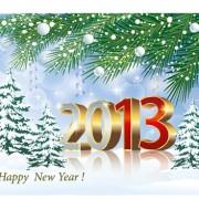Link toBright 2013 new year design vector material 02