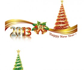 Bright 2013 New Year design vector material 03
