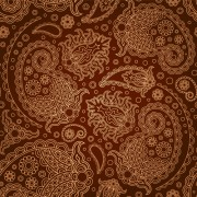 Link toSet of brown paisley patterns vector material 04