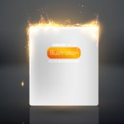 Link toSet of burning paper backgrounds vector 03