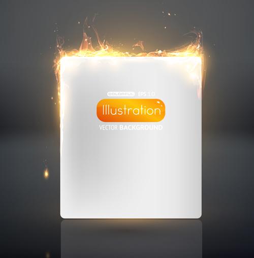 Set of Burning paper backgrounds vector 03