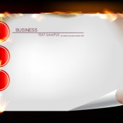 Link toSet of burning paper backgrounds vector 05