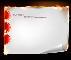 Set of Burning paper backgrounds vector 05