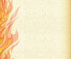 Set of Burning paper vector art 01