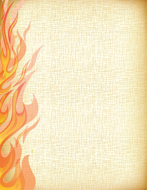 Set of Burning paper vector art 01