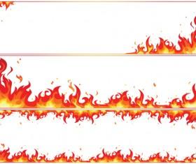 Set of Burning paper vector art 04