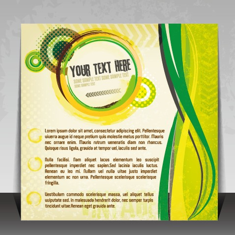 Creative Business brochure covers vector graphic 01