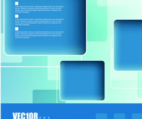 Creative Business brochure covers vector graphic 04